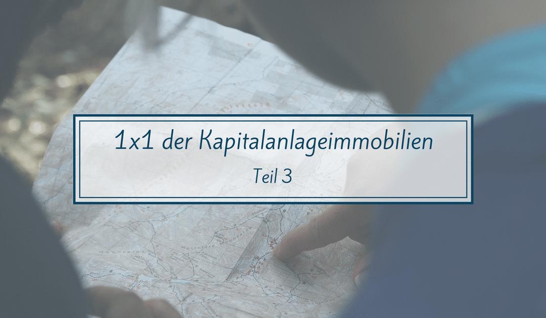 1×1 der Kapitalanlageimmobilie – Teil 3